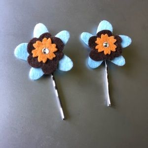 Other - Felt Flower Bobby Pins!  Add a little flair!